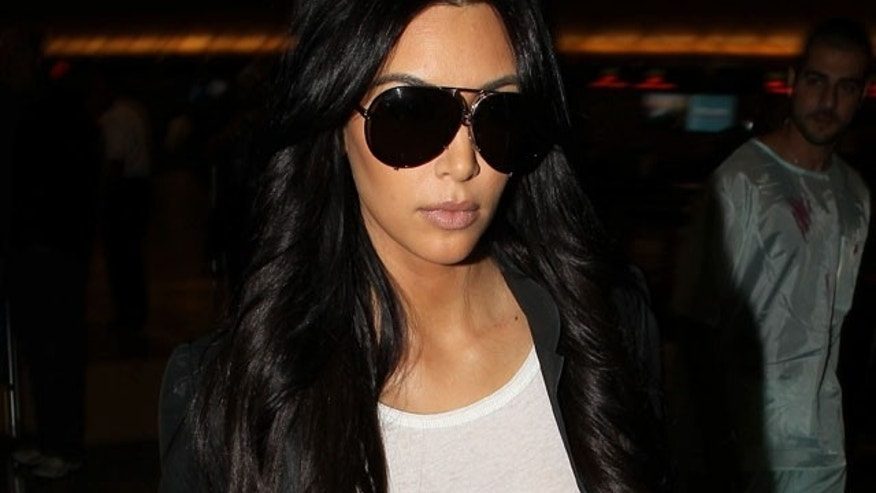 Oct. 31: Kim Kardashian at LAX on the day she filed for divorce from Kris Humphries.