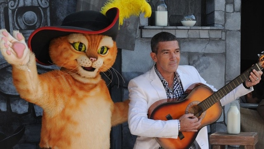 Oct. 22: Antonio Banderas arrives at the premiere of 'Puss In Boots' at The Regency Village Theater in Los Angeles.