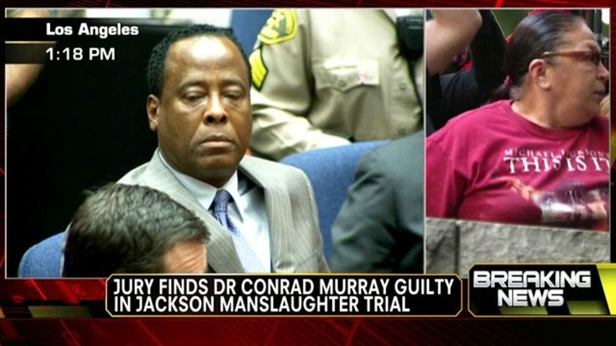 Nov. 7 2011: Dr. Conrad Murray reacts to the guilty verdict.