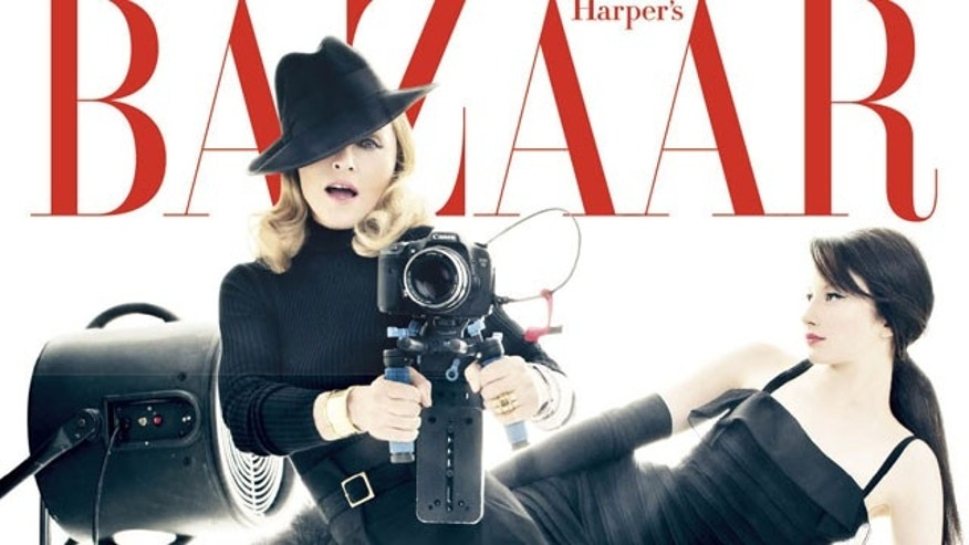 Madonna on the December cover of Harper's Bazaar