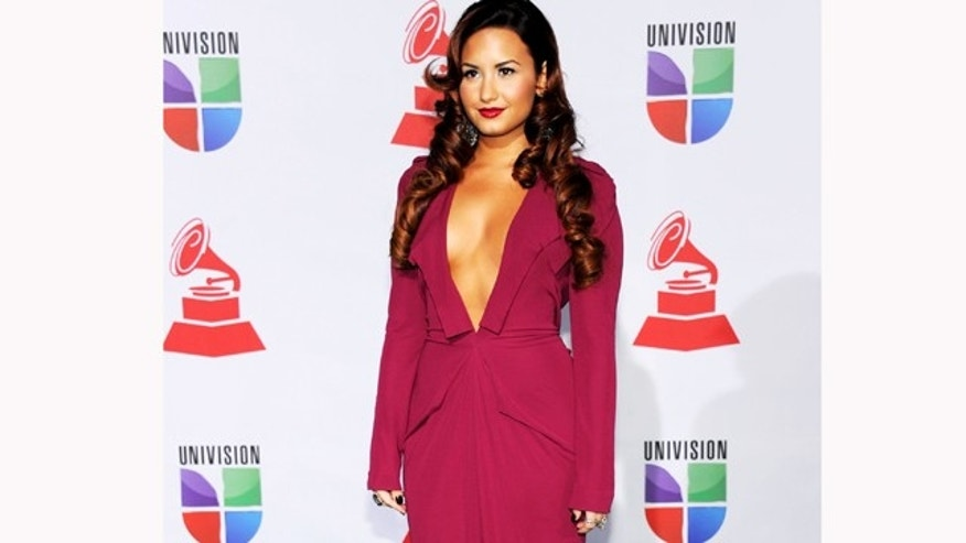 Nov. 10, 2011: Singer/actress Demi Lovato arrives at the 12th annual Latin GRAMMY Awards at the Mandalay Bay Resort & Casino in Las Vegas, Nev.