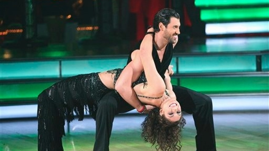 Nov. 14, 2011: Soccer player Hope Solo and her partner Maksim Chmerkovskiy perform on 'Dancing with the Stars.'