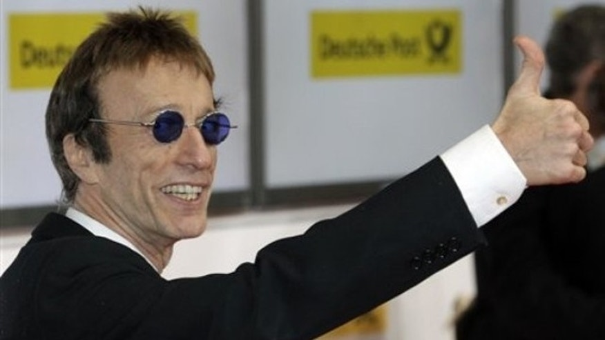 Feb. 5, 2011: British singer Robin Gibb arrives for the 46th Goldene Kamera (Golden Camera) media award gala in Berlin, Germany.