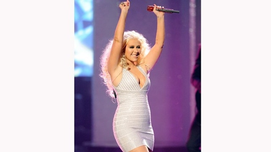 Nov. 20, 2011: Singer Christina Aguilera performs onstage at the 2011 American Music Awards held at Nokia Theatre L.A. LIVE in Los Angeles, Calif.