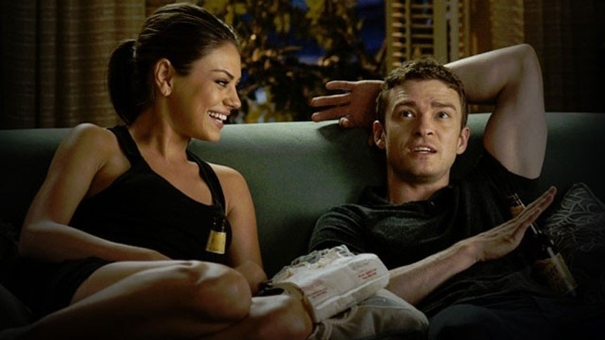 Mila Kunis and Justin Timberlake in 2011's 'Friends With Benefits.'