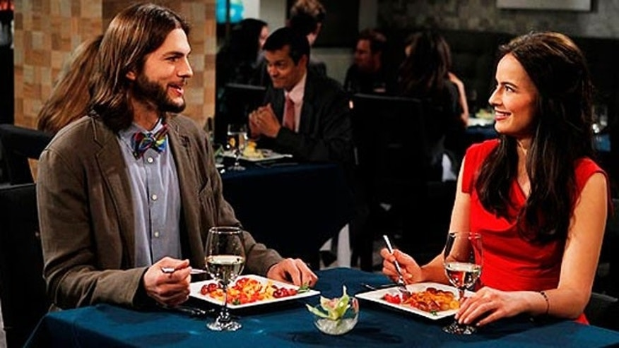 Ashton Kutcher and Sophie Winkleman on 'Two and a Half Men.'