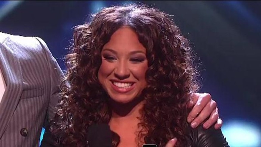 "Nov. 30, 2011: Melanie Amaro sings Michael Jackson's ""Earth Song"" Tuesday night on the X Factor."