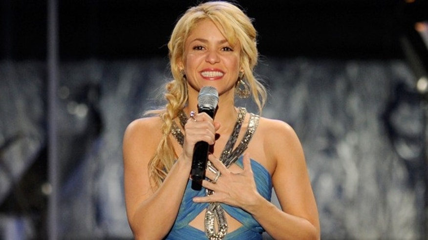 Nov. 9, 2011: Shakira speaks onstage during the 2011 Latin Recording Academy's Person of the Year Gala at Mandalay Bay Resort & Casino in Las Vegas, Nev.