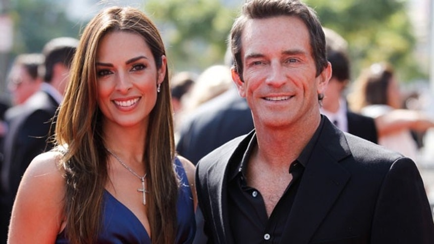 Lisa Ann Russell and Jeff Probst (Reuters)