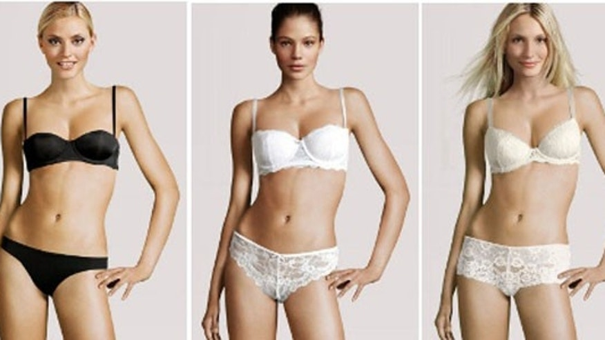 H&M puts real models' heads on the same computer generated body in its online catalog.