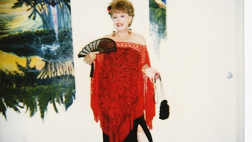Rue McClanahan in some of her personal clothing that will be up for auction.
