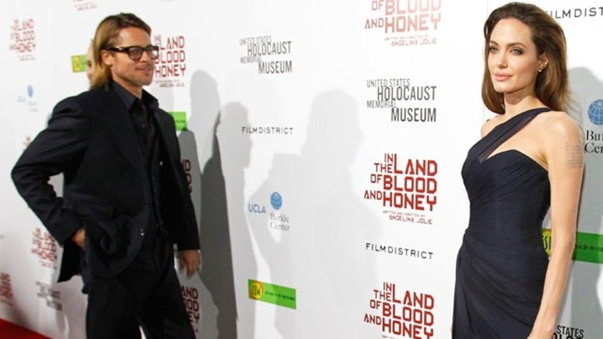 Brad Pitt and Angelina Jolie at the premiere of 'In the Land of Blood and Honey.'