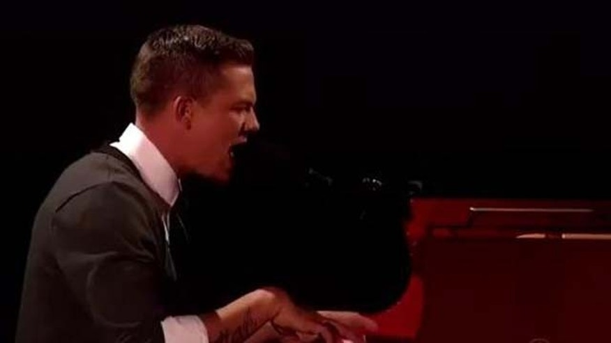 "Dec. 14, 2011: Chris Rene performs Alicia Keys' ""No One"" Wednesday night on the X Factor."