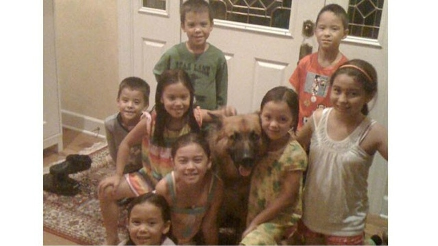 Kate Gosselin's kids with their family Shepherd, Shoka.