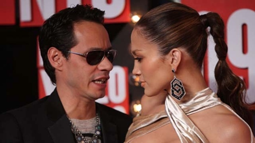 September 13, 2009: Marc Anthony and Jennifer Lopez arrive at the 2009 MTV Video Music Awards at Radio City Music Hall in New York City.