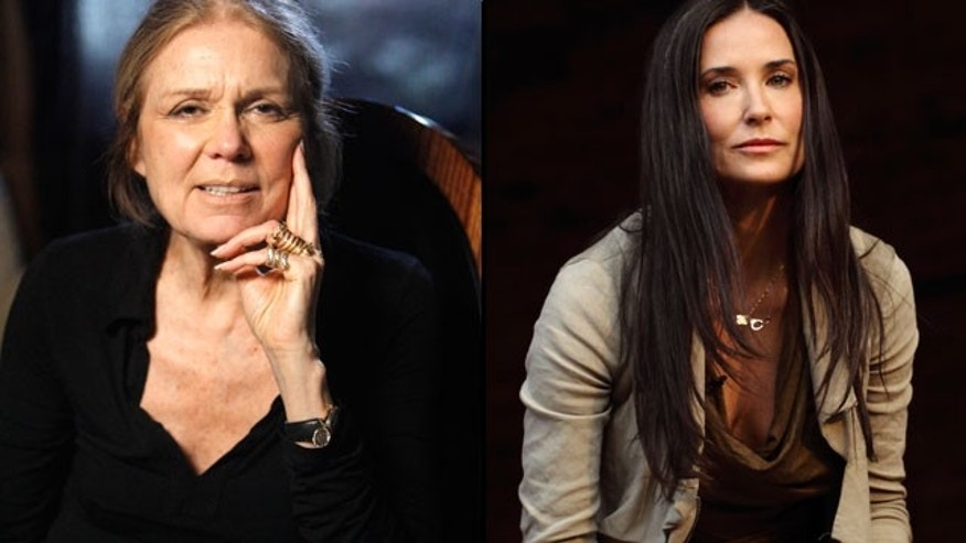 Demi Moore (right) will reportedly play Gloria Steinem in the upcoming Linda Lovelace biopic (Reuters)