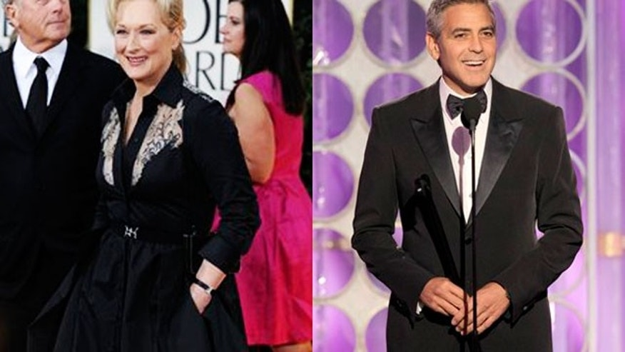 Meryl Streep and George Clooney won top acting honors at the Golden Globes. (AP)
