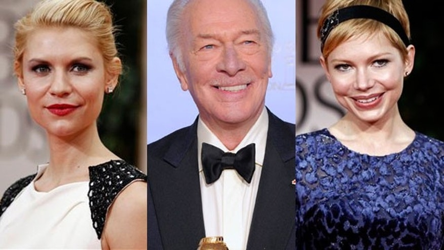 From l to r Claire Danes, Christopher Plummer and Michelle Williams (AP)