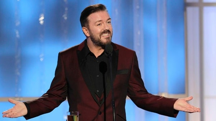 Ricky Gervais, host of the 69th Annual Golden Globes.
