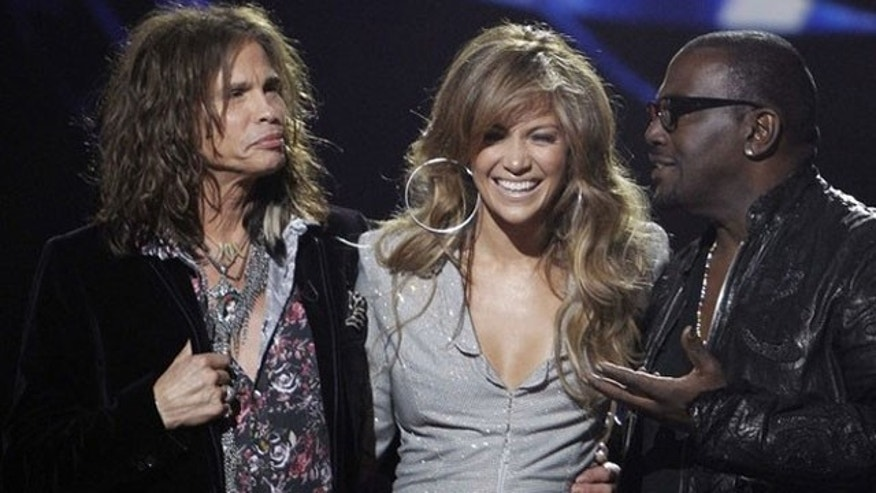 Steven Tyler, Jennifer Lopez and Randy Jackson, the hosts of 'American Idol.'