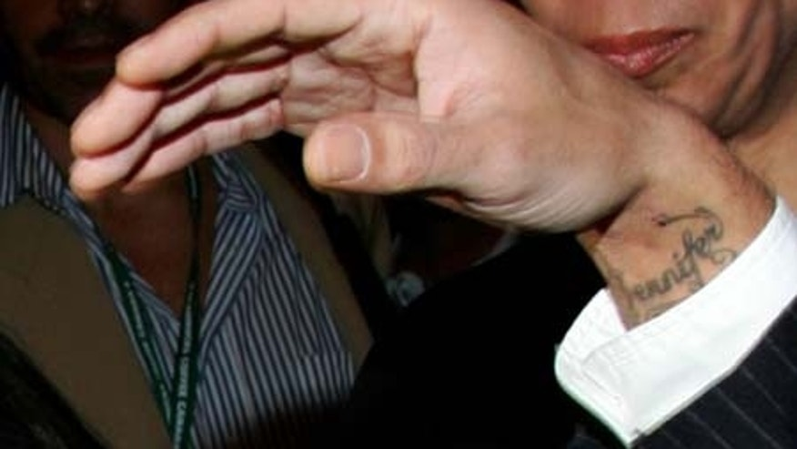 A close up of actor/singer Marc Anthony's wrist, revealing a 'Jennifer' tattoo is seen as he arrives at the TIFF special presentation screening of 'El Cantante' (The Singer) during the Toronto International Film Festival held at the Elgin Theatre on September 12, 2006 in Toronto, Canada.