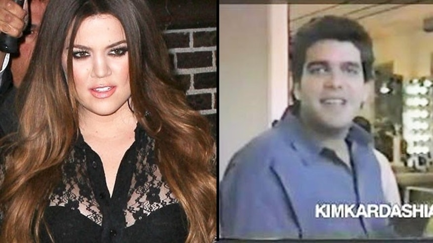 Khloe Kardashian is seen at left, next to Alex Roldan, Kris Jenner's hairdresser and a man who a new site claims is Khloe's father. Roldan is seen here in a clip from a music video Kris Jenner filmed in the 1980s.