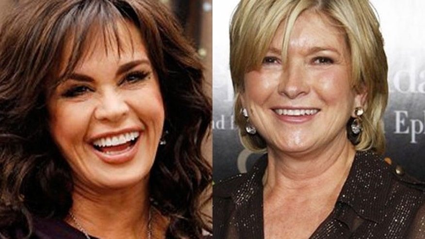 Marie Osmond will replace Martha Stewart (right) on the Hallmark Channel. (AP)