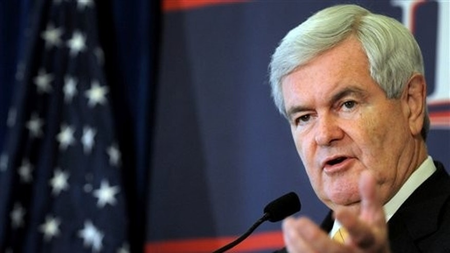 Jan. 30: Republican presidential candidate, former House Speaker Newt Gingrich speaks to the crowd gathered for the Jacksonville Grassroots Rally. (AP)