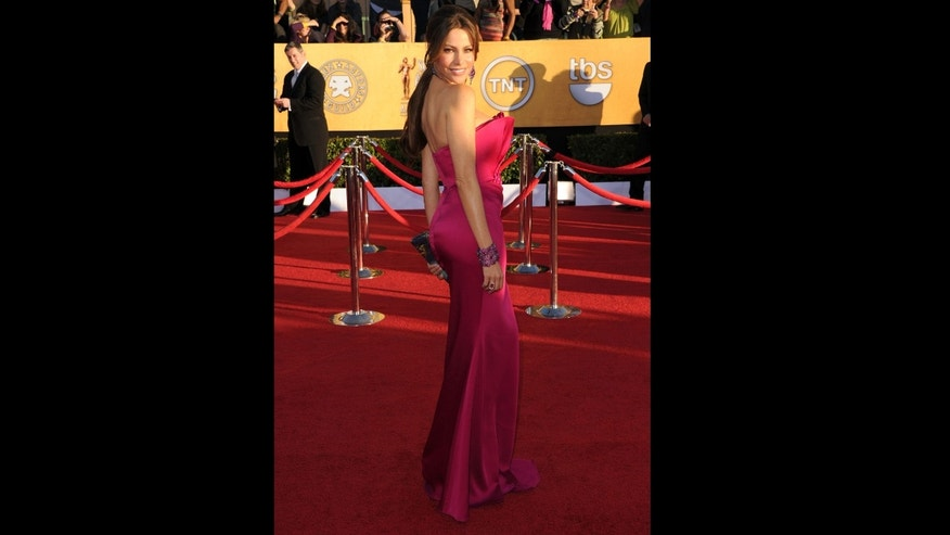LOS ANGELES, CA - JANUARY 29:  Actress Sofia Vergara arrives at the 18th Annual Screen Actors Guild Awards at The Shrine Auditorium on January 29, 2012 in Los Angeles, California.  (Photo by Jason Merritt/Getty Images)