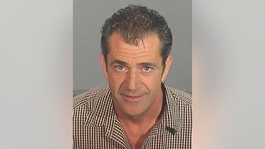 Actor Mel Gibson is pictured in this Los Angeles County Sheriff's Department booking photograph taken July 28, 2006 and released on July 31, after Gibson was arrested on suspicion of Driving Under the Infuence (DUI) in Malibu,California.  FOR EDITORIAL USE ONLY   REUTERS/Los Angeles County Sheriff Department/Handout (UNITED STATES)