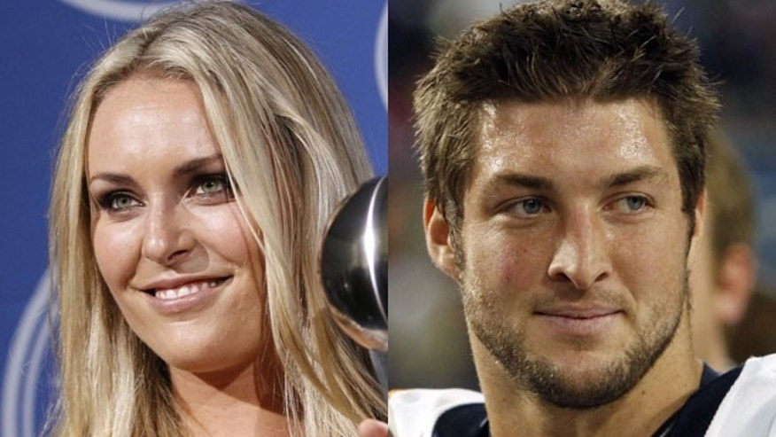 Lindsey Vonn and Tim Tebow.