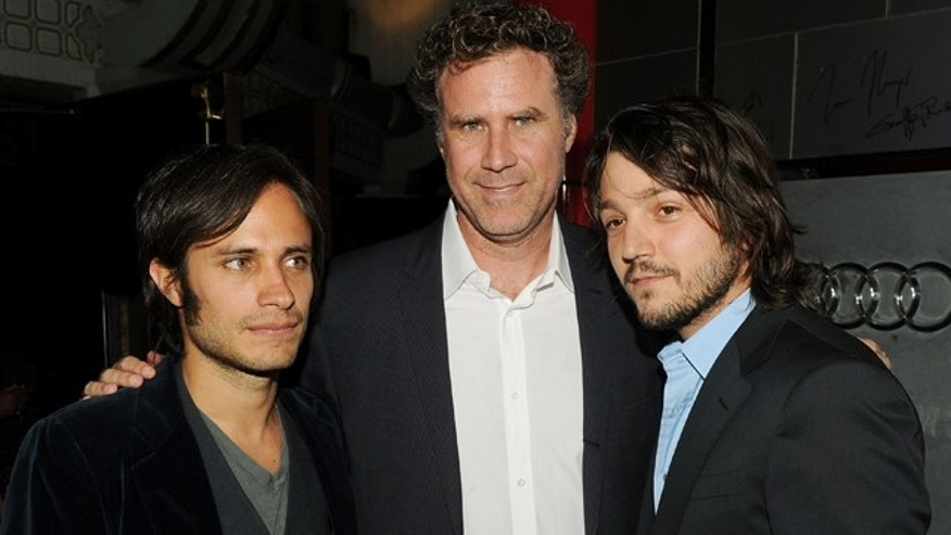 Nov. 7, 2010: (L-R) Executive producer Gael García Bernal, actor Will Ferrell and director Diego Luna arrive at the screening during AFI FEST 2010 in Hollywood, Calif.