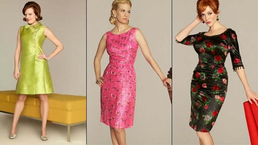 "From the moment ""Mad Men"" debuted, the stylized AMC drama about the men and women who work in Madison Avenue advertising in the 1960s has been a tastemaker favorite. A steady parade of Betty, Peggy and Joan look-alikes have appeared on the catwalks as designers interpreted their favorite looks from the early '60s. But time has marched on in season five, mimicking the fast evolution of fashion during that decade. (AP)"