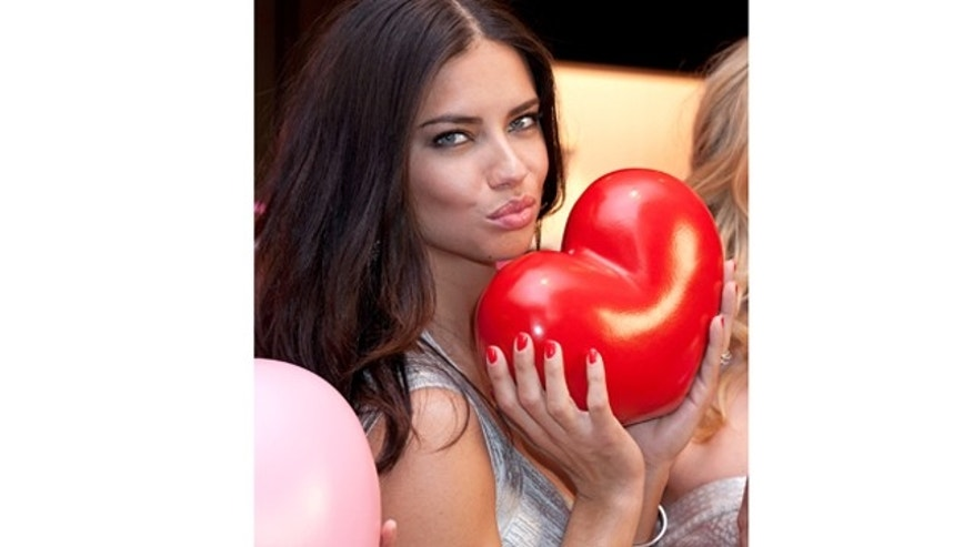 Feb. 08, 2012: Model Adriana Lima attends the Victoria's Secret Angels Valentine's Day Event at Victoria's Secret, SoHo store in New York City.