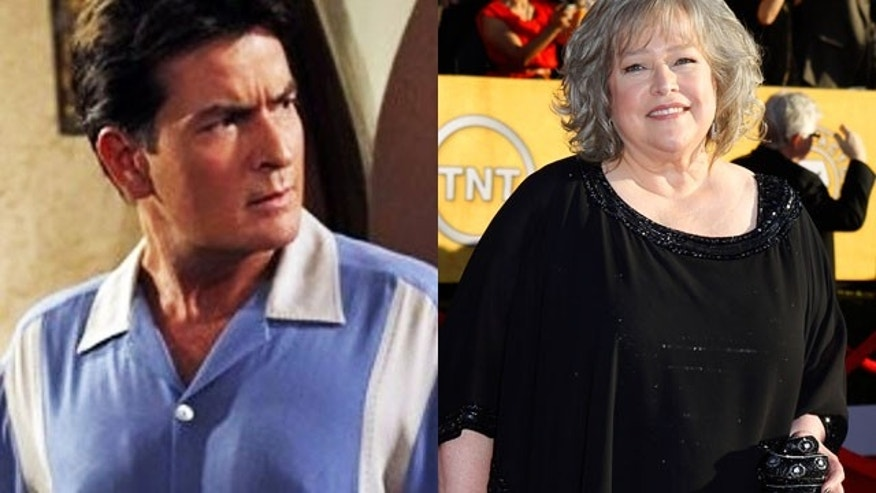 Kathy Bates will take on the role of Charlie Sheen's former character's ghost on 'Two and a Half Men'