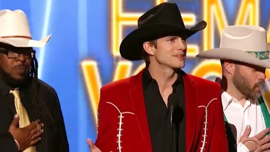 Ashton Kutcher at the 2012 ACM awards.