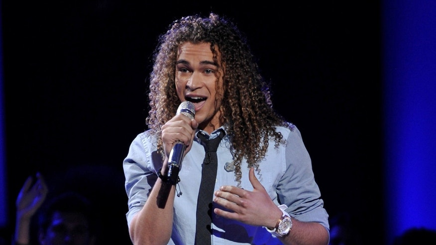 April 4: DeAndre Brackensick performs on the singing competition series 'American Idol' in Los Angeles.