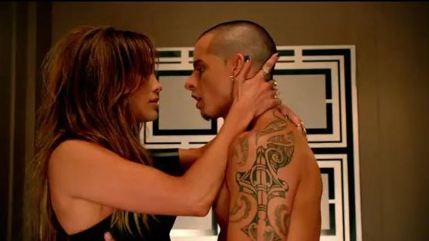"04/05/2012: Jennifer Lopez debuts her latest music video ""Dance Again,"" featuring Pitbull on American Idol Thursday night."
