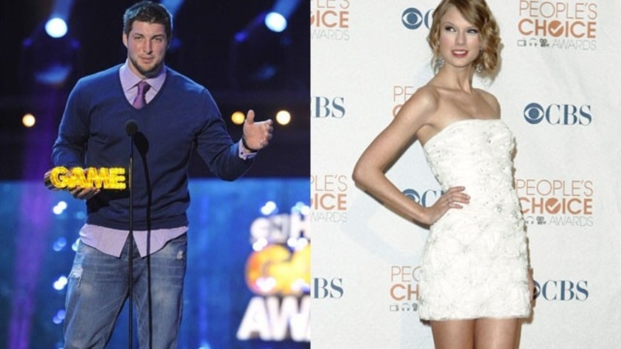 Tim Tebow has been linked to Taylor Swift