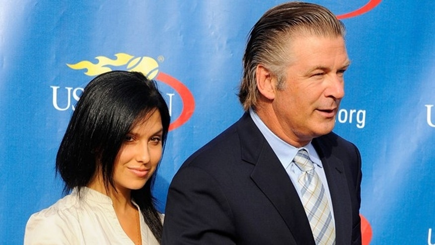 August 29, 2012: Hilaria Thomas and actor Alec Baldwin attend the 2011 US Open opening night ceremony at the USTA Billie Jean King National Tennis Center In New York City.