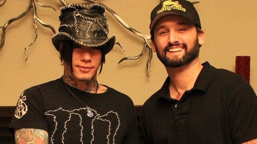 DJ Ashba with BullyVille.com founder James McGibney.