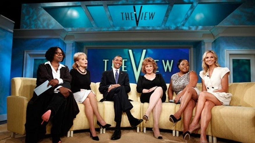 "The hosts of ""The View"" with President Barack Obama"