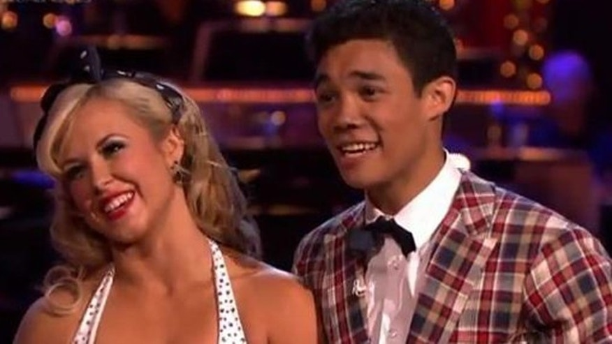 "May 7, 2012: Roshon Fegan and Chelsie Hightower on ""Dancing With the Stars."""