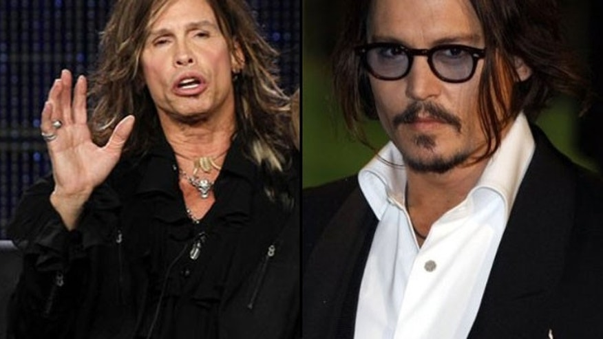 Johnny Depp (right) and Steven Tyler are pals who even collaborate musically.