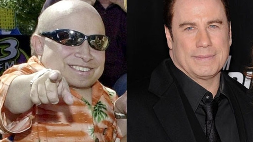 An attorney for a man who claimed to have been abused by John Travolta (right) was himself sued by Verne Troyer (left) for allegedly trying to broker a sex tape featuring Troyer.