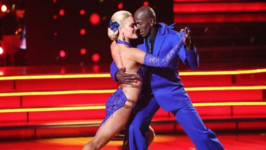 "May 21, 2012: Donald Driver, right, and his partner Peta Murgatroyd perform on the celebrity dance competition series ""Dancing with the Stars,"" in Los Angeles."