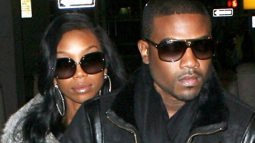 Ray J and sister Brandy Norwood following Whitney Houston's funeral