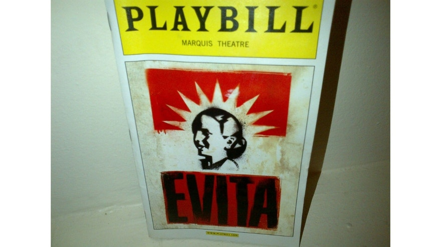 "Playbill of ""Evita"""