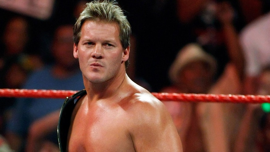 LAS VEGAS - AUGUST 24:  Wrestler Chris Jericho appears in the ring during the WWE Monday Night Raw show at the Thomas & Mack Center August 24, 2009 in Las Vegas, Nevada.  (Photo by Ethan Miller/Getty Images)