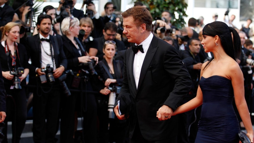 CANNES, FRANCE - MAY 26:  Actor Alec Baldwin and Hilaria Thomas attend the 'Mud' Premiere during the 65th Annual Cannes Film Festival at Palais des Festivals on May 26, 2012 in Cannes, France.  (Photo by Andreas Rentz/Getty Images)